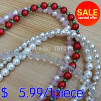 Special price! strong cute lovely pearl Dog Leash Pet Leads Belt Adjustable dog collar harness belt,dog leads, pet light belt