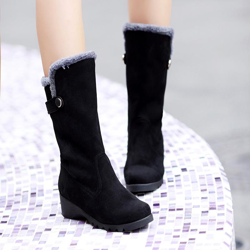 Botas de outono 2014 elegante bearpaw botas de elástico salto grosso botas overknee botas femininas # #(China (Mainland))