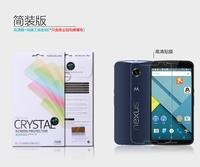 10pcs/lot Ortginal Nillkin LCD CRYSTAL Anti - fingerprint Screen protector film for MOTO Nexus 6 ,Free shipping