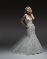 Sexy Backless Spaghetti Straps Mermaid Wedding Dresses Lace V Neck Bridal Gowns Women With Train New Fashion