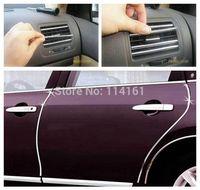 3 Colors 2 Meters Car Air Conditioner Outlet Strip Car Aircon Sticker U Style Car Door Car Hood Decoration Strip