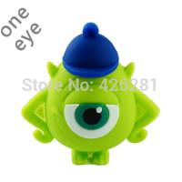 New design Cute Cartoon gift One Eye Monster PVC Usb flash drive Pen drive Usb memory stick  Usb disk 1GB 2GB 4GB 8GB 16GB 32GB