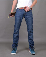 Free shipping Men Gentlemen Fashion Cotton Slim Straight Jeans Long Pants