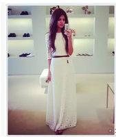 Lace long dress white evening dresses vestido branco de renda longo vestidos brancos longos vestido longo festa