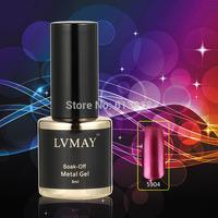 New Arrival 12PCS color UV gel soak-off nail gel polish Metallic gel Shape Heavy Metal texture for your nails