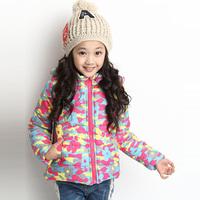 2014 Girls Winter Warm Coat New Arrival Casaco Infantil Kids Long Sleeve Jackets Children Parkas Princess Hooded Outerwear