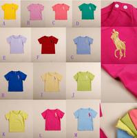 Retail New Children boy girls POLO Shirts kids brand summer short sleeves shirts baby 100% Cotton Tees top shirt Free Shipping