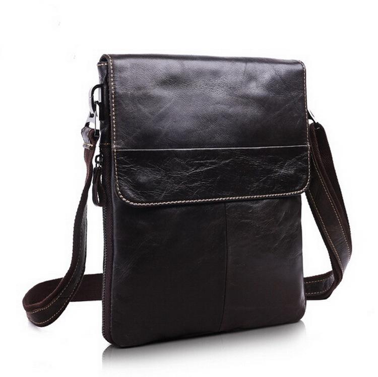 100% Genuine Leather men bags men's briefcase vintage men Messenger bag Shoulder Bag Ipad shoulder coffer cowhide leather bags(China (Mainland))