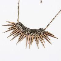 Min Order $10 Mix Free Shipping fashion trendy vintage rivet taper tassel necklaces & pendants MXIUX CX070