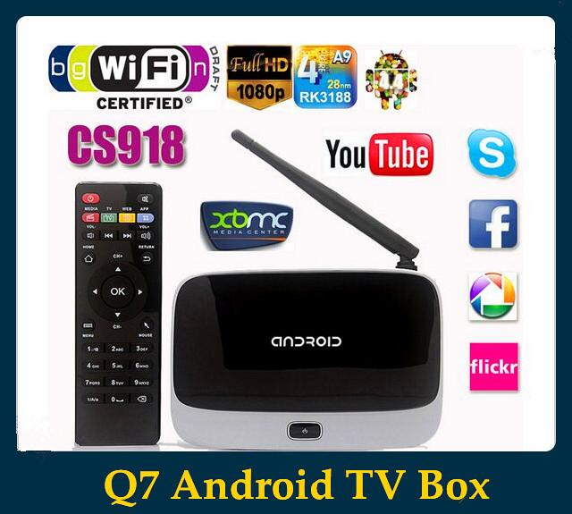 Телеприставка OEM Android Q7 CS918 Full HD 1080P RK3188T 2 /8 XBMC Wifi PC