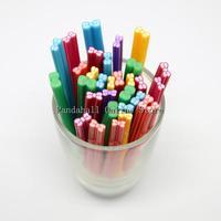 Polymer Clay Nail Art Decoration Fashion Nail Care No Hole Tubes Bowknot Mixed Color 3~6mm wide 50mm long/tube