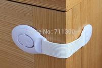 2pcs Lengthened bendy Security Fridge Cabinet Door locks Drawer Toilet Safety Plastic Lock For Child Kids baby Safety Care