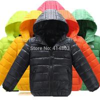 Joy Chang's Retail 1pcs Kids winter warm brand down jacket children's hooded parka snowwear, 110-150 8 colors