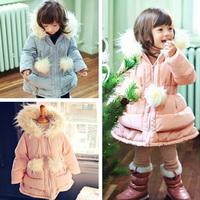 New 2015 Kids Clothes Winter Fashion Girls Coat Brand Children Girl Jackets Thick Outwear Long Sleeve Parka Casacos Femininos