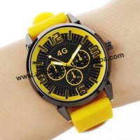 Senjue 3 Eyes 4G Silicone Watch Fashion Ladies Quartz Wristwatch For Men Women Wholesale Business Casual Men's Sports Watches