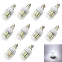 10pcs/lot  E14 E12 E27 G9 GU10 27x5050 SMD White LED bulb Energy-saving AC 220V240V LED Lamp High Quality LED Bulbs lamp Tubes