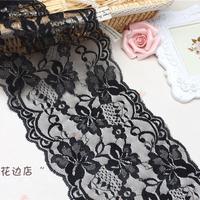 Free shipping Width 15cm 10yard/lot Elastic ace High Quality Lace Fabric EL-B-15-271