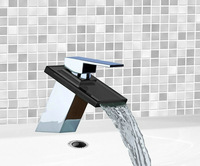 Bathroom Basin Faucets Chrome Solid Brass Water Tap 8217 Bath Sink Mixer Tap Faucets,Mixers & Taps