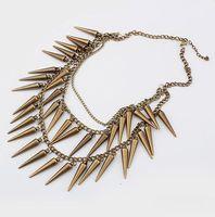 Min Order $10 Mix Free Shipping X158 fashion punk multi-layer vintage necklaces & pendants MXIUX CX098