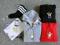 Best quality HARAJUKU street skateboard girls boys Simpson embroidery unisex look pullovers hoodies with velvet winter