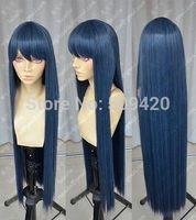 FSX5985Q>>Danganronpa Maizono Sayaka 100cm Blue Black Cosplay Party Wig