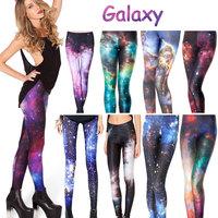 Women Galaxy Legging Pants Black Milk Galaxy Leggings for Women S M L XL 2XL Plus Size Galaxy Printed Leggings Free Shipping