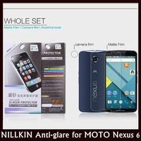 NILLKIN Matte Anti Glare Super Clear Antifingerprint Screen Protector for MOTO Nexus 6 XT1100, XT1103 + Retail + Free Shipping