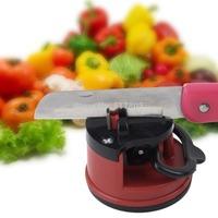 1 pcs Red Knife Sharpener Scissors Grinder Suction Chef Pad Kitchen Sharpening Tool Hot Selling