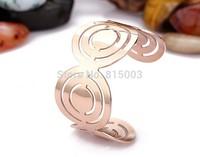 Popular Fashion jewelry wholesale opening of titanium steel hands rose gold bracelets new female stainless steel bracelet