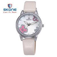 SKONE Women Genuine Leather Strap Watches Women Dress Wristwatches  Quartz Watch for HOT Sale  Women Birthday Gift