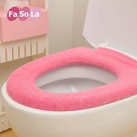 Fasola 100% cotton toilet set antibiotic anti-odor toilet mat toilet set seat ring autumn and winter,1PCS/lot,free shipping