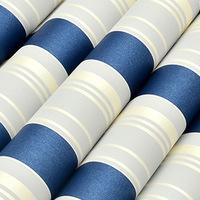 Non-woven wallpaper Dark Blue blue and white vertical stripe brief child real background wallpaper