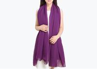 Chiffon and scarf  purple