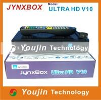 1PCS Jynxbox Ultra HD V10 TV Receiver FREE JB200 8PSK Module& wifi antenna better than jynxbox ultra hd v7 v6 v5 v3 v4