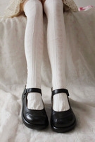 Princess Sweet Lolita stockings harajuku soft amo anime cos vintage heart pattern white cotton stockings knee-high over- knee