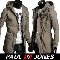 US FAST!!! XMAS YOUNG MEN Slim WINTER WARM Long Trench Top Coat Jacket Overcoat