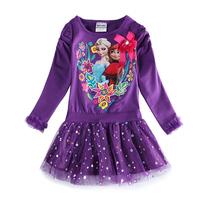 frozen dress nova kids brand frozen elsa baby dress for girls frozen party dress vestido infantil girl kids long sleeve dress