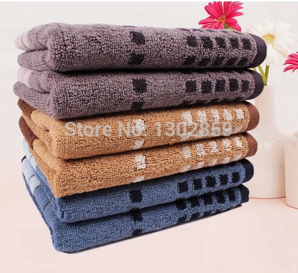 High-quality cotton plaid men soft towel Fashion personality sport towel (Free shipping)(China (Mainland))