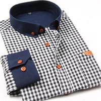 Male Spring Autumn Clothing 2014 Camisa Men Shirt Casual Shirts Slim Fit Stylish Mens Dress Shirts