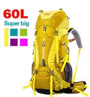 internal frame 60L  Outdoor climbing mountaineering bag shoulder bag men and women backpack large capacity backpack hiking