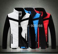 2015 new fashion slim men's jacket Casual men's coat Removable sleeves mens clothing men's vest plus size cotton coat 3509 white