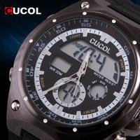 CUCOL Brand 2015 New Fashion Reloj Hombre Watches Men Luxury Brand Male Clock Mens Military Army Sport Digital Watch