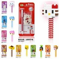 5pcs/lot LOZ Diamond Blocks Granule Builing Bricks Educational DIY Set Toys for Children Gift Pen Kitty Cat Dog Gril Boy Winnie