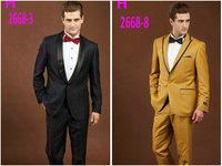 2015 Advanced male business suits casual brand suit men slim fit wool suits 2PCS formal dress prom wedding suits blazer1X53