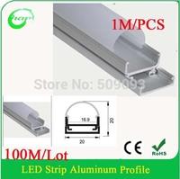 100M/Lot  aluminum profile 1m LED profile Aluminum for width up to 16mm led Strips