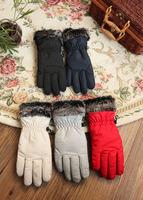women's glove Winter glove outdoor warm glove wind stop glove waterproof glove thick inner Free shipping
