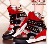 2015 Free shipping Women air revolution sky hi height increasing shoes women's sneakers walking shoe jogger Shoes