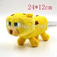 24cm Minecraft Plush toy Minecraft Ocelot Plush toy Baby Ocelot plush doll GREAT COLLECTION