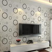 Unfavorable wallpaper round modern brief fashion sofa tv machine geometric figure Wallpaper