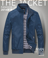 2014 men's wear thin jacket collar fashion leisure han edition cultivate one's morality wash and wear coat of England